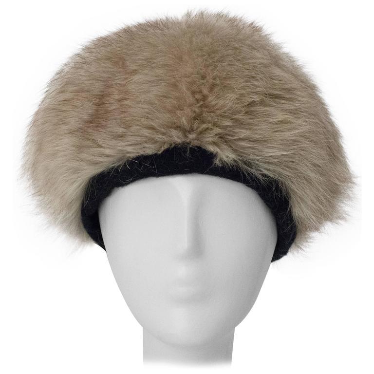 60s Irene of New York Fox Fur Hat