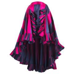 Christian Dior by Gianfranco Ferré silk evening flamenco skirt, circa 1993