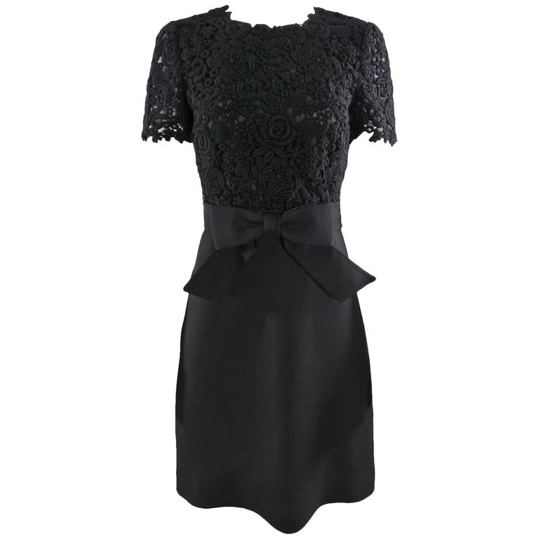 7ad33458c9 Valentino black Lace top 1960s style Cocktail Dress at 1stdibs