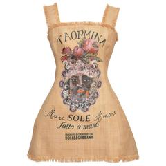 """Collector's Dolce & Gabbana """"Controversial Collection""""  2013 Raffia Dress  NEW"""
