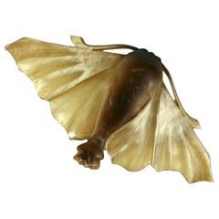 French Art Nouveau Naturalistic Papillon De Nuit Brooch  Brooch