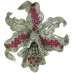 Extraordinary Marcel Boucher Early Orchid Brooch