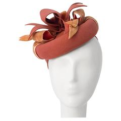 40s Dusty Rose Wool Felt Toy Hat
