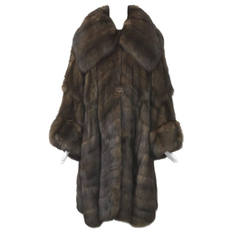 Fendi Sable Swing Coat