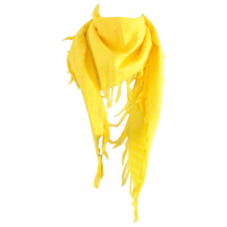 Balenciaga Yellow Scarf NWOT