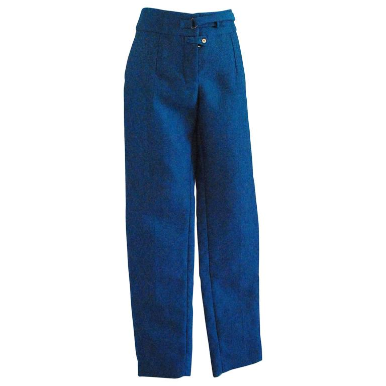 2012 Yves Saint Laurent blu pants NWOT