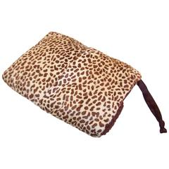 Ultra Glam 1930's Cheetah Print Fur Muff