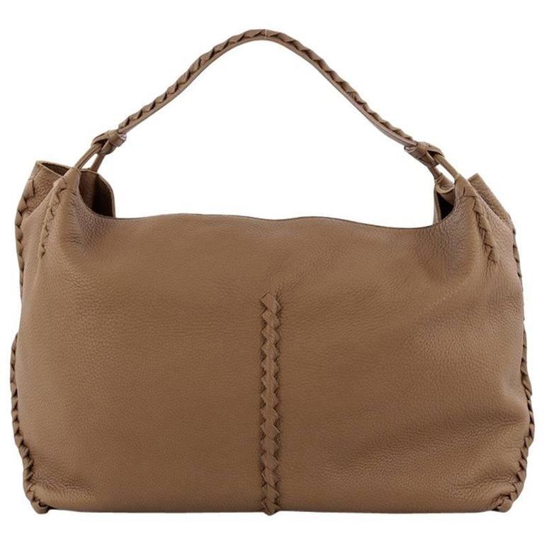 9194c648683 Bottega Veneta Shoulder Bag Cervo Leather with Intrecciato Detail Large For  Sale