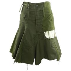junya watanabe comme des garcons Deconstructed Army skirt