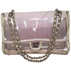 Chanel Clear Classic Flap Shoulder Bag