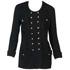 Black Vintage Chanel Corduroy Jacket