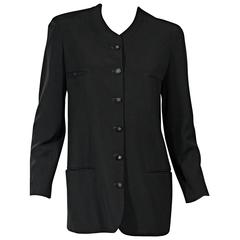 Black Vintage Chanel Button-Front Jacket