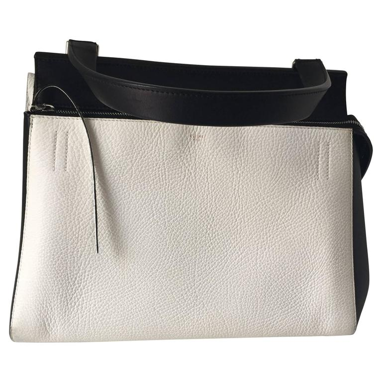 Celine Black and White Medium Edge Bag For Sale