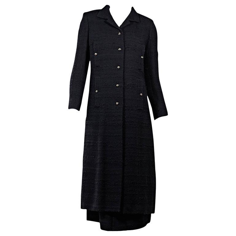Navy Vintage Chanel 2-Piece Skirt Set 1