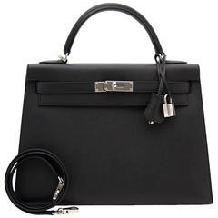 BRAND NEW Hermes Kelly 32 Sellier Black Epsom