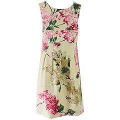 Lela Rose Tan and Pink Floral Print Sleeveless Dress - 6