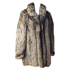 80s Yves Saint Laurent Silver Tip Fox