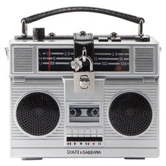 Dolce & Gabbana fully functional boom box-shaped Radio Bag  Retail Price $8,895