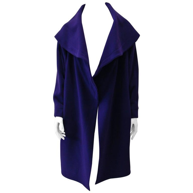 Claude Montana Purple Wrap Coat, Fall 1995
