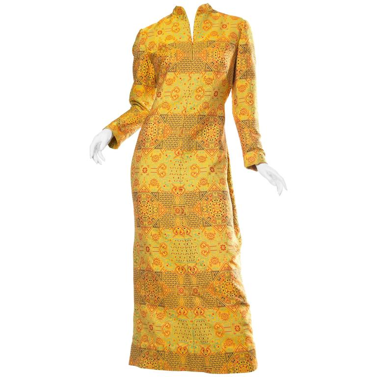 1960s Adele Simpson Chinese Inspired Dress 1
