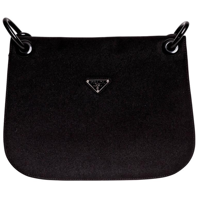 90176f24c285 Prada Nylon Structured Shoulder Bag with Chain Handle at 1stdibs