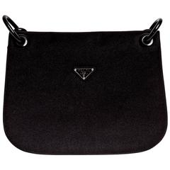 Prada Nylon Structured Shoulder Bag with Chain Handle