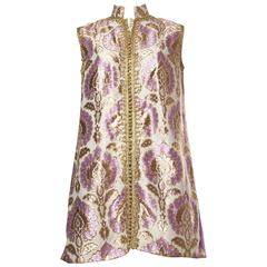 Beautifully Hand Detailed Moroccan Tunic in Gold