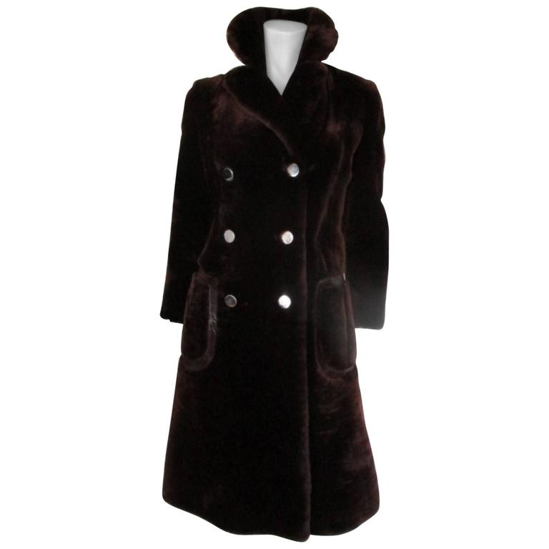 12344092a Louis Feraud brown sheared beaver fur coat For Sale at 1stdibs