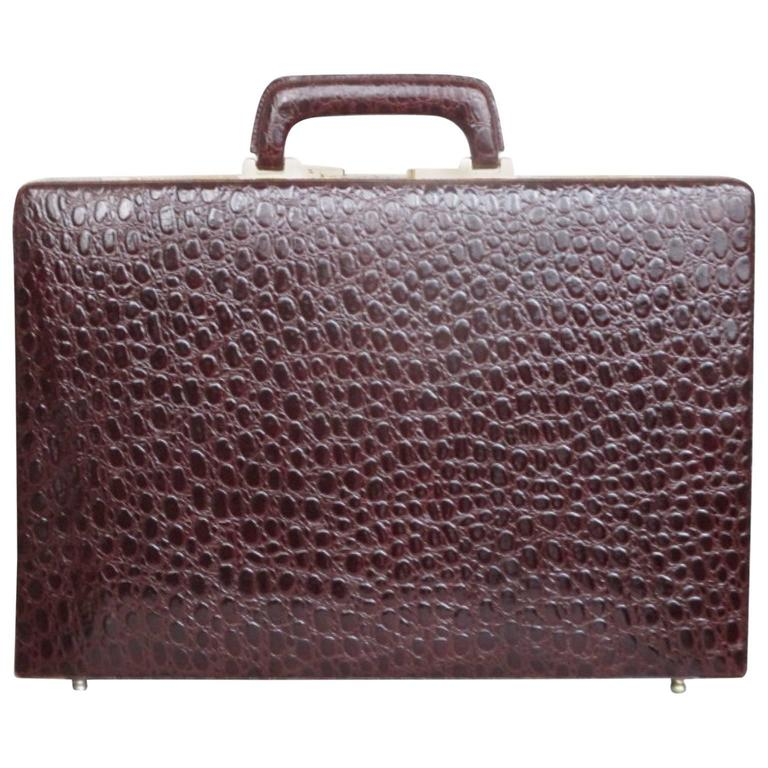 business class patent leather presto briefcase