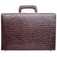 Business class patent leather presto briefcase