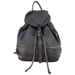 KRANE Black Canvas & Leather Oversized THEUS Backpack