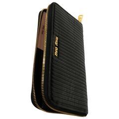 Miu Miu black wallet gold tone hardware