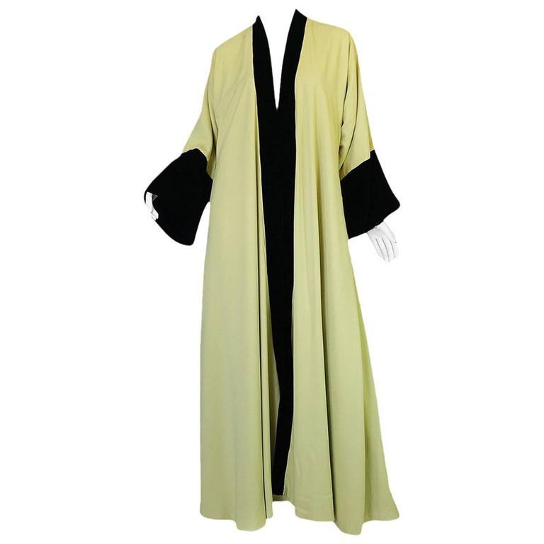 Documented 1950s Yma Sumac's Sophie Gimbel Silk Evening Coat Robe For Sale