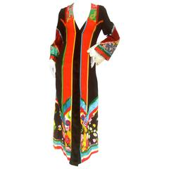 Sant Angelo Vibrant Bohemian Festival Gown c 1970s