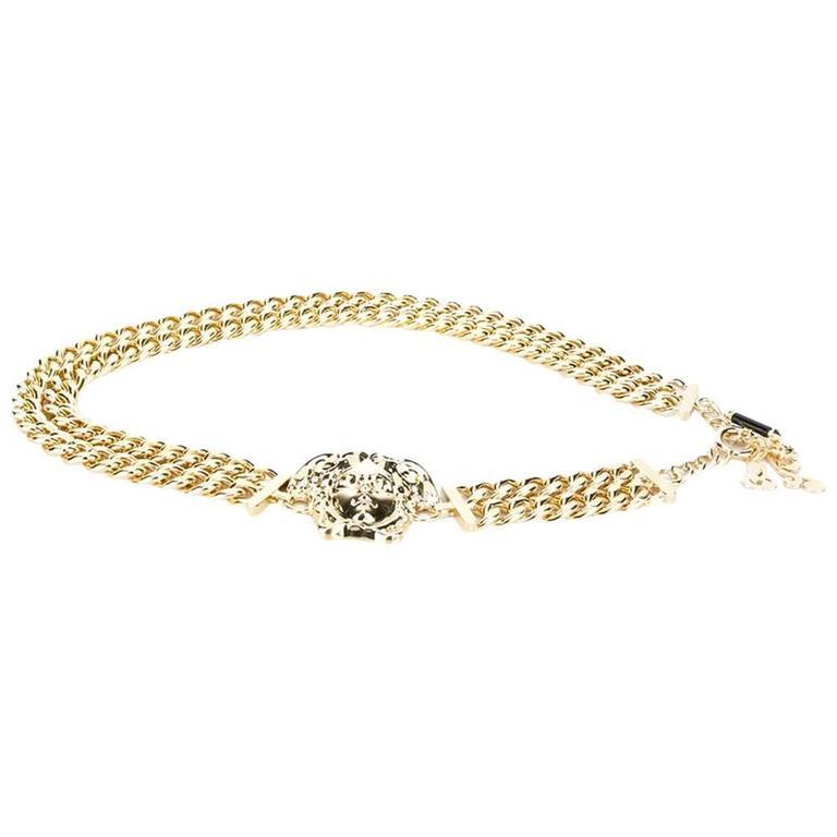New Versace Palazzo Medusa Gold Chain Belt 1