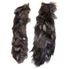 sleeveless silver fox fur vest