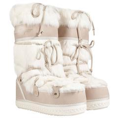 Salvatore Ferragamo Moon Snow Winter Fur Boots
