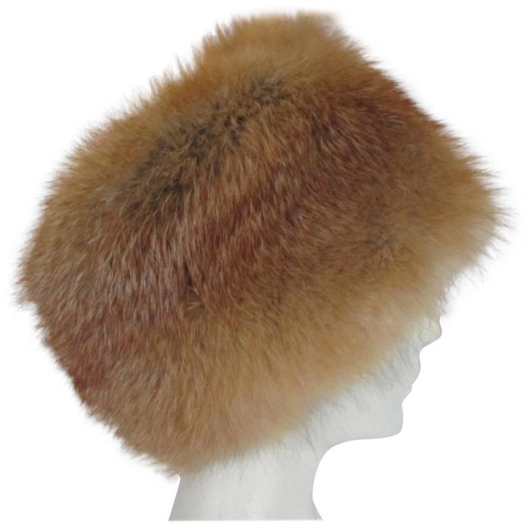 quality red fox fur hat