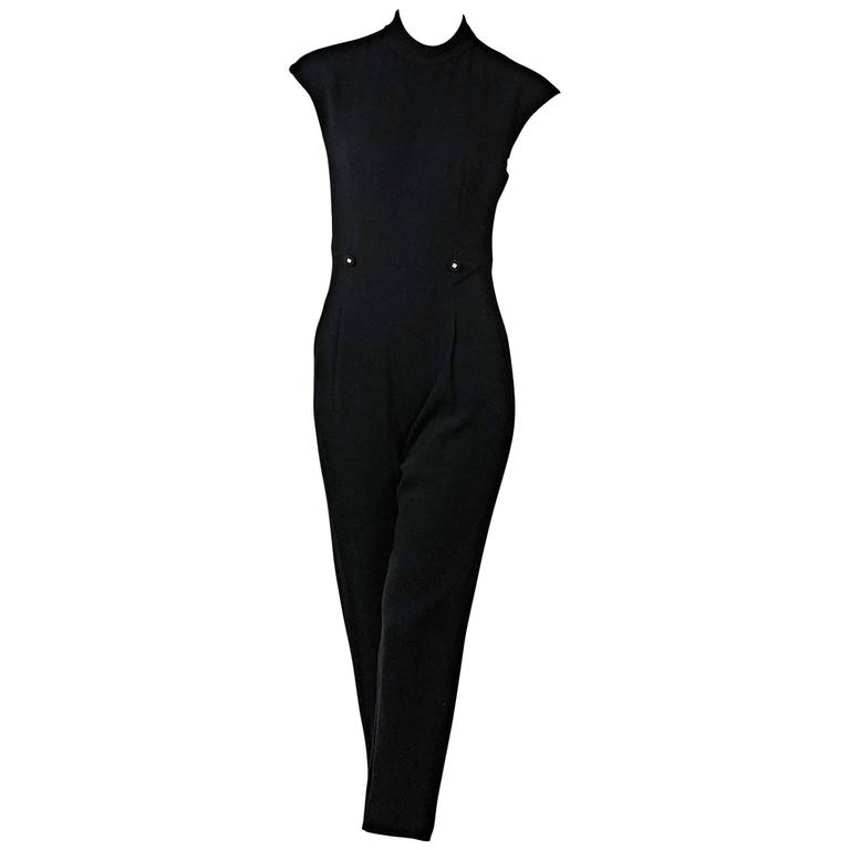 Black Vintage Chanel Jumpsuit 1