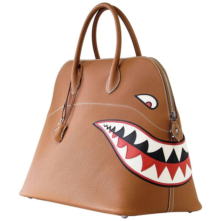 3d4bb5bf25ae Hermes Bolide Bag Shark Monster Bolide Gold Palladium Limited Edition For  Sale