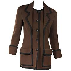 Brown & Black Vintage Chanel Blazer