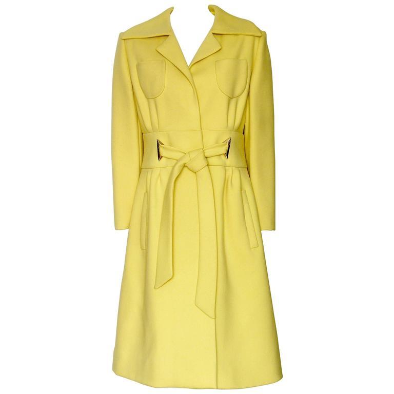 Bright Yellow Originala Wool Coat