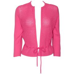 Shocking Pink Cashmere Cardigan