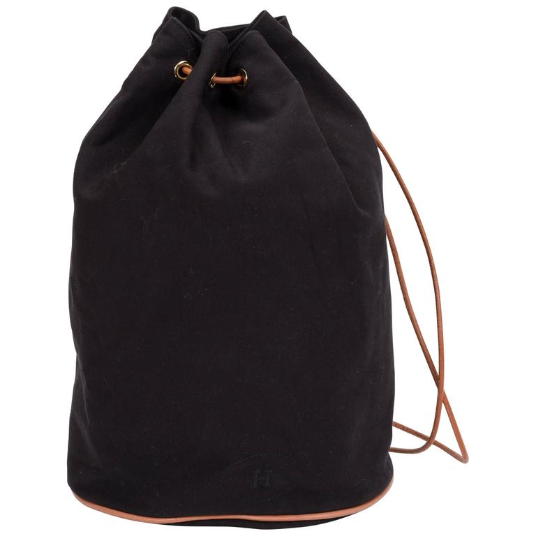 Hermes Black Toile/Cuir Backpack 1