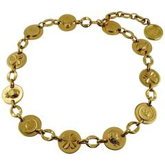 Chanel Vintage Ladybug, Mademoiselle Profile and Clover Gold Toned Coin Belt