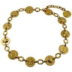 Chanel Vintage Ladybug, Mademoiselle Profile and Clover Gold Toned Coin Belt