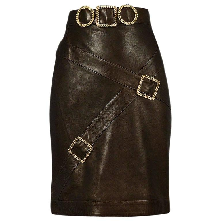 Chanel Iconic Buckle Skirt For Sale