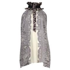 Balenciaga Paisley Pleated Collar Blouse