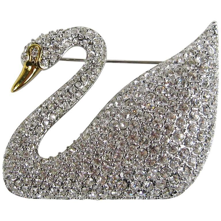 SWAROVSKI Crystal Iconic Swan Bug Brooch Pin Never Worn 1