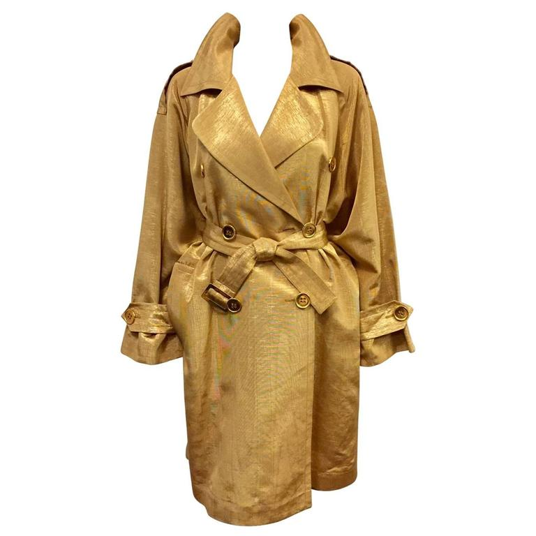 Vintage Yves Saint Laurent Encore Metallic Gold Trench